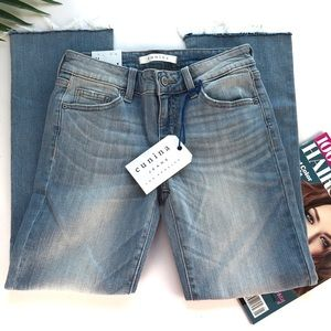 Eunina Jeans Cropped Lola Midi Rise boot Sz 1